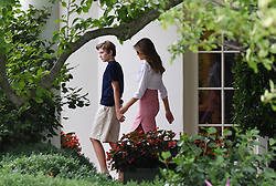 Barron Trump and Melania Trump depart the White House in Washington, DC, on June 30, 2017. Photo by Olivier Douliery/ Abaca