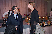LUCA DEL BONO; JACQUETTA WHEELER, The Vogue Festival 2012 in association with Vertu- cocktail party. Royal Geographical Society. Kensington Gore. London. SW7. 20 April 2012.