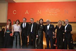 May 18, 2019 - Cannes, France - CANNES, FRANCE - MAY 18: (L-R) Audrey Dana, a guest, Jean Dujardin, Christophe Lambert, Elsa Zilberstein, Gerard Darmon and Mathilde Seignier attend the screening of ''Les Plus Belles Annees D'Une Vie'' during the 72nd annual Cannes Film Festival on May 18, 2019 in Cannes, France. (Credit Image: © Frederick InjimbertZUMA Wire)