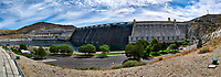 Grand Coulee Dam Panorama. Composite of seven images taken with a Nikon D300 camera and 18-200 mm VR lens (ISO 200, 18 mm, f/11, 1/500 sec). Raw images processed with Capture One Pro, Photoshop and CC, NIK Color Efex. Panorama created using AutoPano Pro.