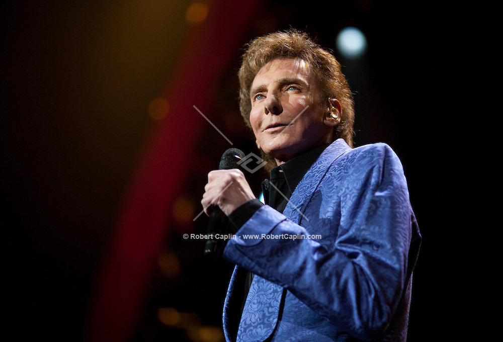 Barry Manilow performs at Radio City Music Hall in New York City. ..Photo by Robert Caplin