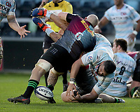 Ali Oz  of Racing 92 is tackled by Tom Lawday of Harlequins