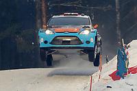 MOTORSPORT - WORLD RALLY CHAMPIONSHIP 2012 - RALLY SWEDEN / RALLYE DE SUEDE - 08 TO 12/02/2012 - KARLSTAD (SWE) - PHOTO : FRANCOIS BAUDIN /  DPPI - BRYNDILSEN FORD FIESTA WRC ACTION