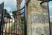 gate chateau trottevieille saint emilion bordeaux france