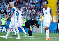 disappointment of Lionel Messi (Argentina) <br /> Moscow 16-06-2018 Football FIFA World Cup Russia  2018 <br /> Argentina - Iceland / Argentina - Islanda<br /> Foto Matteo Ciambelli/Insidefoto