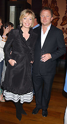 News presenter KIRSTY YOUNG and her husband NICK JONES at a party to celebrate the publication of Air Babylon by Imogen Edwards-Jones held at Fifty, 50 St.James's Street, London SW1 on 4th July 2005.<br /><br />NON EXCLUSIVE - WORLD RIGHTS