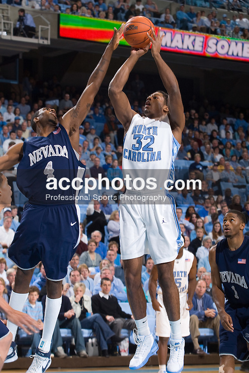 27 December 2007: North Carolina Tar Heels forward Alex Stepheson (32) during a 106-70 win over the Nevada Wolf Pack at the Dean Smith Center in Chapel Hill, NC.