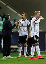 LJUBLJANA, SLOVENIA - JUNE 06: Stefan Kuntz, head coach of Germany talks to Arne Maier of Germany during the 2021 UEFA European Under-21 Championship Final match between Germany and Portugal at Stadion Stozice on June 06, 2021 in Ljubljana, Slovenia. Photo by Grega Valancic / Sportida