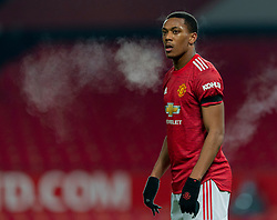 MANCHESTER, ENGLAND - Friday, January 1, 2020: Manchester United's Anthony Martial during the New Year's Day FA Premier League match between Manchester United FC and Aston Villa FC at Old Trafford. The game was played behind closed doors due to the UK government putting Greater Manchester in Tier 4: Stay at Home during the Coronavirus COVID-19 Pandemic. (Pic by David Rawcliffe/Propaganda)