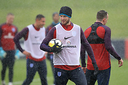 England's Eric Dier (left) during the training session at St George's Park, Burton.