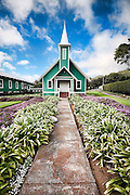 The Ke Ola Mau Loa Church in Waimea on the Big Island of Hawaii.