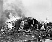 Y-480817-12. PTCo. Burning trolley cars August 17, 1948