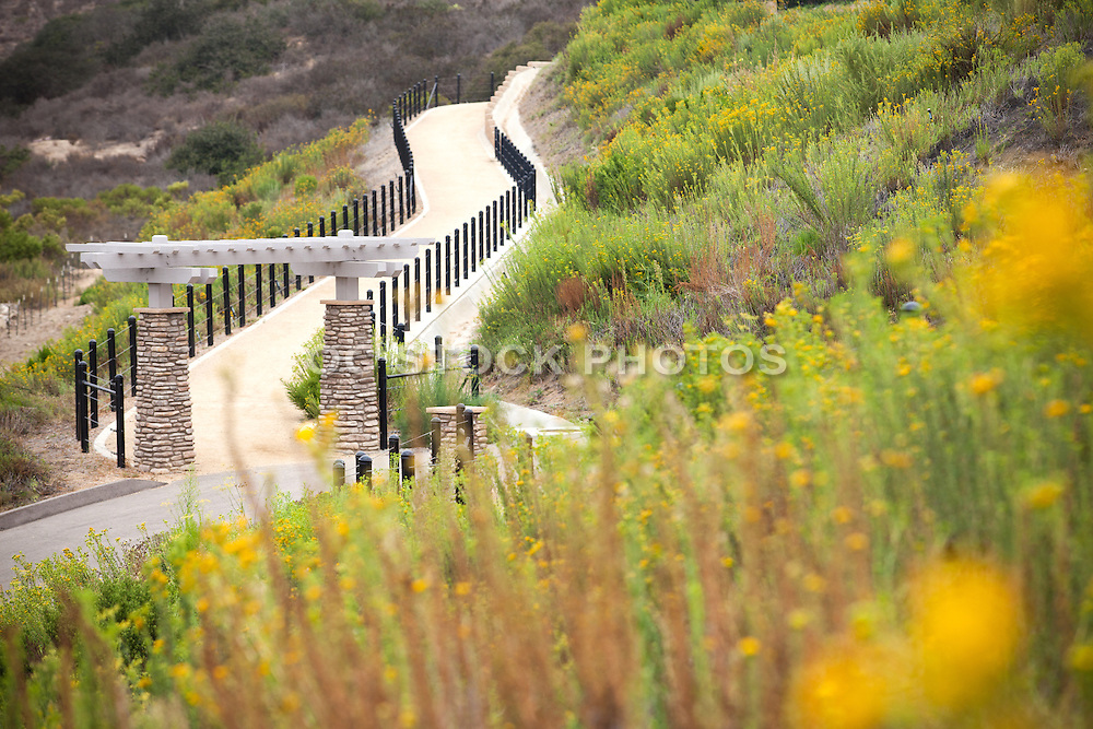 Hiking and Walking Trail Stock Photo