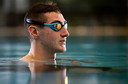 Tim Svensek Znidarsic, Slovenian paraswimmer, he was born with a congenital anomaly of both hands during his training in Tivoli pool, on January 25, 2021 in Bazen Tivoli, Ljubljana, Slovenia.  Photo by Vid Ponikvar / Sportida