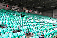 Lonely spectator during the Vanarama National League match between Eastleigh and Woking at Silverlake Stadium, Eastleigh, United Kingdom on 10 April 2021.
