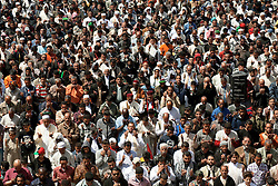 © licensed to London News Pictures. BENGHAZI. 15/04/2011.  Libyan revolutionairies at the Friday prayer in Benghazi listen to a sermon in rememberance of the dead across the country . Please see special instructions for usage rates. Photo credit should read ISMAIL NEGM/LNP
