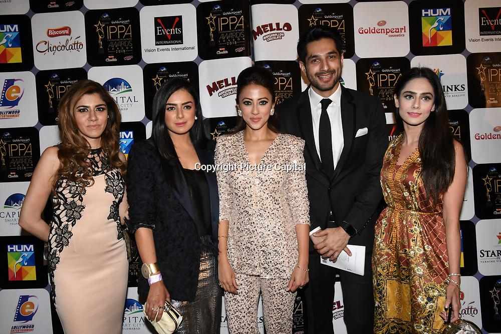 Momal Sheikh , Ahsan Khan is a Pakistani actress and guests arrives at the Annual International Pakistan Prestige Awards (IPPA) at Indigo at The O2 on 9th September 2018, London, UK.
