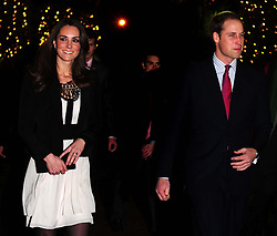Prince William and Kate Middleton arrive for a Christmas Spectacular and Reception in aid of Teenager Cancer Trust at the Thursford Collection, Thursford, Norfolk .