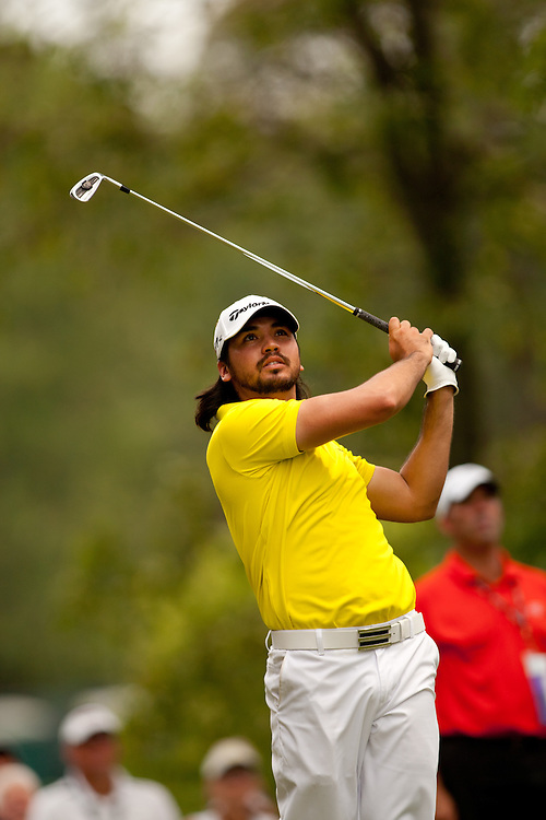 BETHESDA, MD - JULY 1: Jason Day of Australia plays a tee shot during the final round of the 2012 AT&T National at Congressional Country Club in in Bethesda, Maryland on July 1, 2012. (Photograph ©2012 Darren Carroll) *** Local Caption *** Jason Day