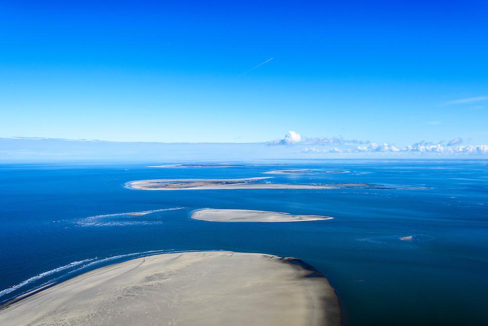 Nederland, Friesland, Schiermonnikoog, 28-02-2016;  in de voorgrond Schiermonnikoog, dan Simonszand en de onbewoonde eilanden Rottumerplaat en Rottumeroog. Aan de verre horizon Borkum.<br /> Uninhabited Wadden island seen from Schiermonnikoog, Wadden sea. <br /> <br /> luchtfoto (toeslag op standard tarieven);<br /> aerial photo (additional fee required);<br /> copyright foto/photo Siebe Swart