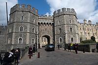 Windsor Castle after The Duke of Edinburgh died, aged 99, Windsor Castle, Windsor, Berkshire, UK.photo by Brian Jordan