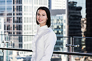 Corporate Portrait of staff member showing the Sydney CBD in the background. Sydney Corporate Photographer