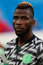 June 26, 2018 - Saint Petersburg, Russia - Kelechi Iheanacho of Nigeria national team during the 2018 FIFA World Cup Russia group D match between Nigeria and Argentina on June 26, 2018 at Saint Petersburg Stadium in Saint Petersburg, Russia. (Credit Image: © Mike Kireev/NurPhoto via ZUMA Press)