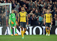 Arsenal's Theo Walcott looks on dejected after going 2-0 down during the Premier League match at Selhurst Park Stadium, London. Picture date: April 10th, 2017. Pic credit should read: David Klein/Sportimage
