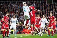 Real Madrid Sergio Ramos and Bayern Munich Thiago Alcantara and David Alaba during Semi Finals UEFA Champions League match between Real Madrid and Bayern Munich at Santiago Bernabeu Stadium in Madrid, Spain. May 01, 2018. (ALTERPHOTOS/Borja B.Hojas)