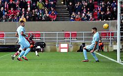 Famara Diedhiou of Bristol City scores - Mandatory by-line: Joe Meredith/JMP - 10/02/2018 - FOOTBALL - Ashton Gate Stadium - Bristol, England - Bristol City v Sunderland - Sky Bet Championship