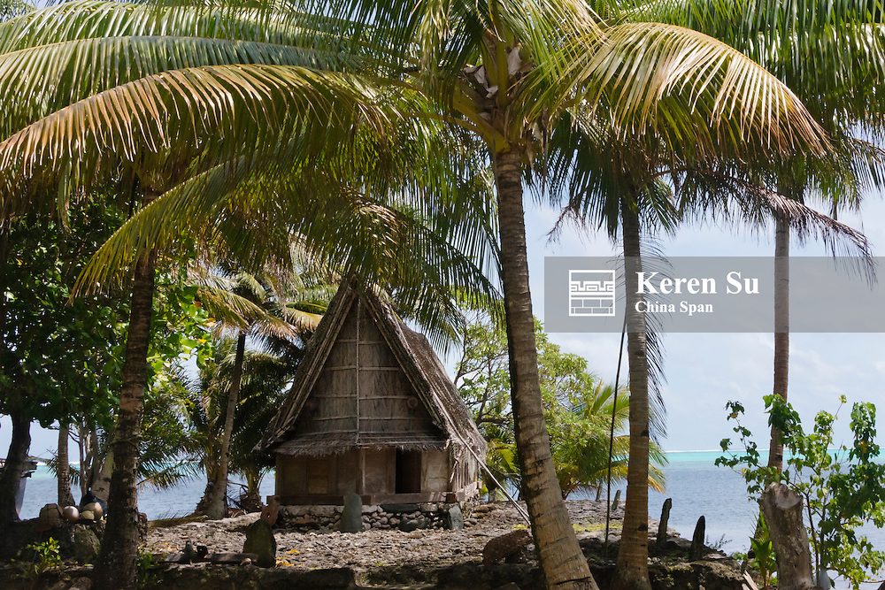Men's house by the ocean, Yap Island, Federated States of Micronesia