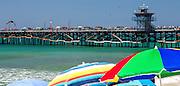Sun Umbrellas On The Beach In San Clemente