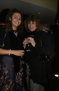 Olivia Cole and Denise Cole. The after party following the press night for 'Who's Afraid Of Virginia Woolf?' at the Aldwych theatre on January 31 2006  January 31  2006. © Copyright Photograph by Dafydd Jones 66 Stockwell Park Rd. London SW9 0DA Tel 020 7733 0108 www.dafjones.com