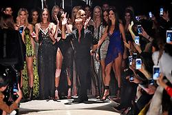 Designer Julien Macdonald walks on the runway during the Julien Macdonald Fashion Show during London Fashion Week Spring Summer 2018 held at No 1. Invicta Plaza in London, England on September 18, 2017. (Photo by Jonas Gustavsson/Sipa USA)