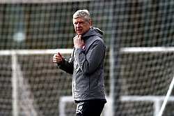 Arsenal manager Arsene Wenger during the training session at London Colney, Hertfordshire.