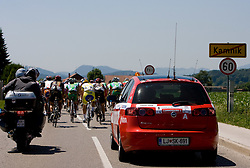 Peloton exiting Kamnik at 2nd stage of Tour de Slovenie 2009 from Kamnik to Ljubljana, 146 km, on June 19 2009, Slovenia. (Photo by Vid Ponikvar / Sportida)
