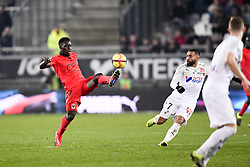 February 23, 2019 - Amiens, France - 27 JEAN VICTOR MAKENGO (NICE) - 07 SAMAN GHODDOS  (Credit Image: © Panoramic via ZUMA Press)