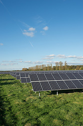 Solar Panels being installed at Parkwall Farm, Westonzoyland Road, Bridgewater