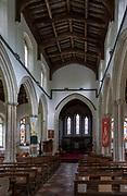 Inside village parish church of All Saints, Lawshall, Suffolk, England, UK