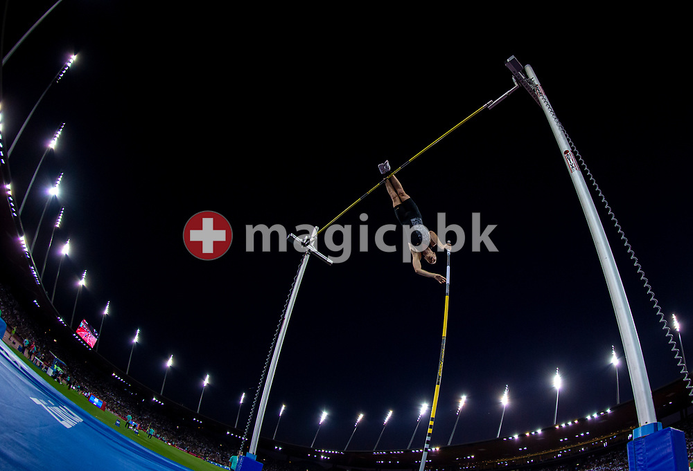Sam KENDRICKS of United States of America (USA) competes in the Men's Pole Vault during the Iaaf Diamond League meeting (Weltklasse Zuerich) at the Letzigrund Stadium in Zurich, Switzerland, Thursday, Aug. 29, 2019. (Photo by Patrick B. Kraemer / MAGICPBK)