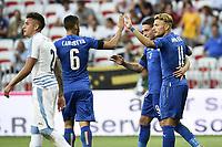Nice (Francia) 07-06-2017 Stadio Allianz Riviera Friendly match Italia - Uruguay / Italy - Uruguay foto Image Sport/Insidefoto<br /> nella foto: esultanza Italia autogol Jose' Gimenez own goal celebration Ciro Immobile, Andrea Belotti, Antonio Candreva