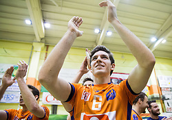 Diko Puric of ACH celebrates after winning during volleyball match between ACH Volley   and Salonit Anhovo in Final of Slovenian Cup 2014/15, on January 17, 2015 in Sempeter, Slovenia. Photo by Vid Ponikvar / Sportida