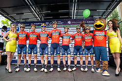 Team Bahrain Merida prior to 2nd Stage of 25th Tour de Slovenie 2018 cycling race between Maribor and Rogaska Slatina (152,7 km), on June 14, 2018 in  Slovenia. Photo by Vid Ponikvar / Sportida