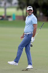 February 28, 2019 - Palm Beach Gardens, Florida, U.S. - Charl Schwartzel reacts to almost holing out from the fairway on the 10th hole during the first round of the Honda Classic Thursday at PGA National Resort and Spa in Palm Beach Gardens, February 28, 2019. (Credit Image: © Allen Eyestone/The Palm Beach Post via ZUMA Wire)