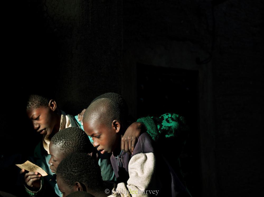 Students at the Koranic school in Djenné, Mali