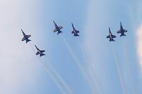 Six Blue Angels Perform (three of them upside down)!