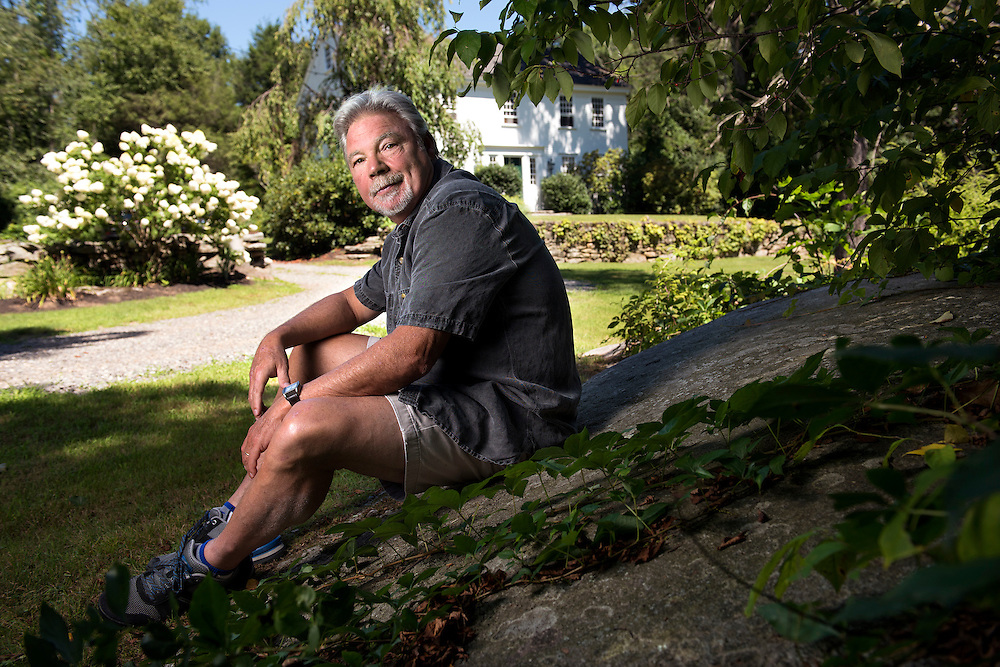 Woodstock, CT, 8/18/2016<br /> The poet Robert Cording at home in Woodstock.<br /> Photo by MARA LAVITT/ Special to the Courant.