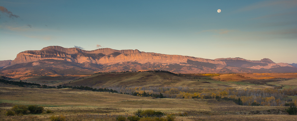Moonrise from the Teddy Roosevelt Ranch, Montana