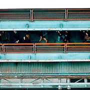 Gangway in Port of Los Angles- Passengers hurry to get on board a Princess Cruise bound for Mexico.