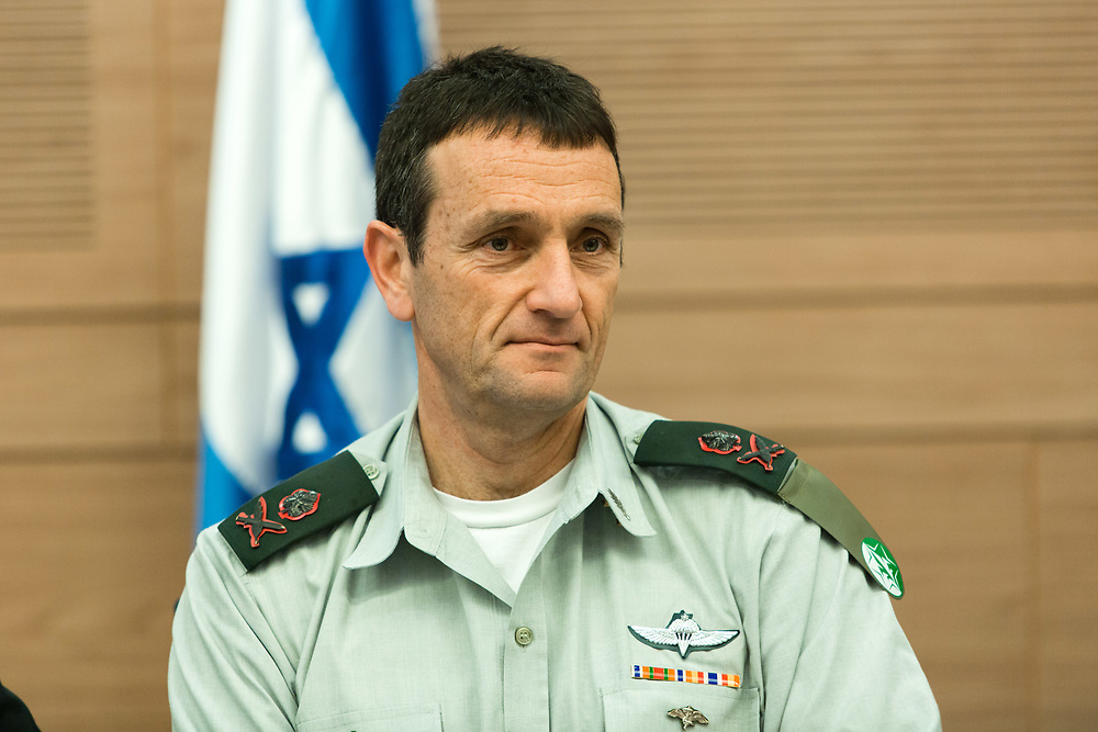 Chief of the Israeli Military Intelligence Directorate Maj. Gen. Herzi Halevy, attends a session of the Foreign Affairs and Defense Committee at the Knesset, Israel's parliament in Jerusalem, on March 1, 2017.